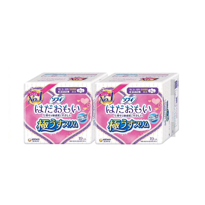 Unicharm尤妮佳 苏菲日用超薄棉柔卫生巾敏感肌专用 19片*2包