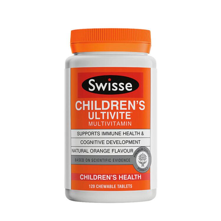 【香港直邮】澳洲Swisse儿童复合维生素咀嚼片120片