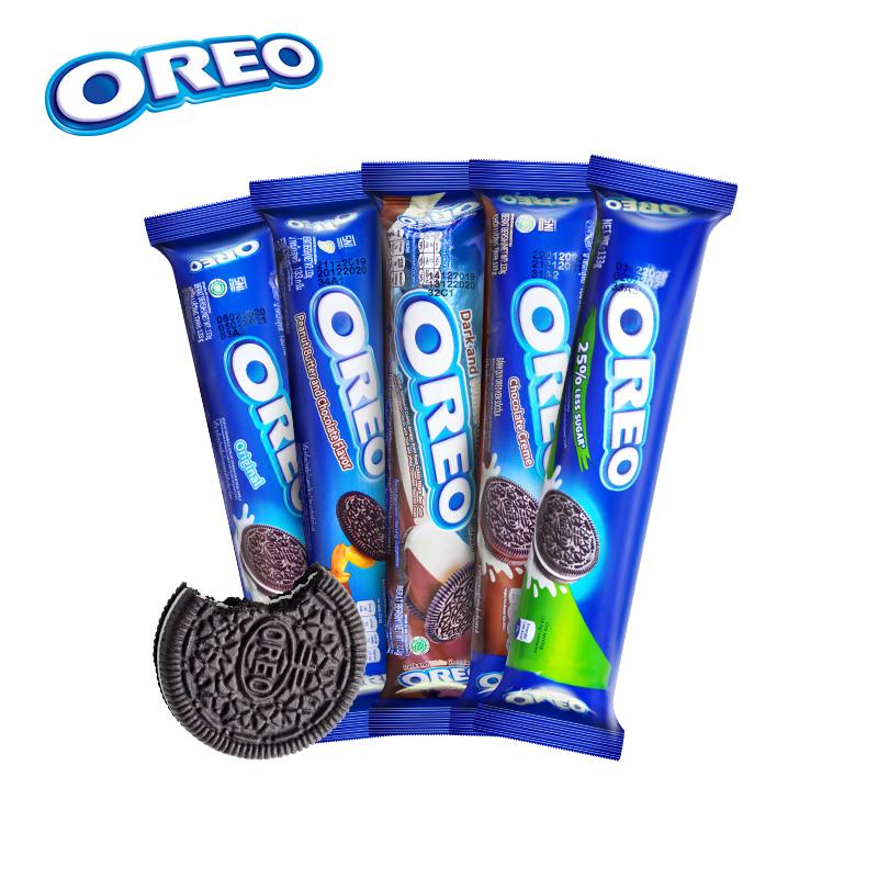 OREO奥利奥夹心饼干 133g/包*2(花生巧克力味+黑白巧克力味)