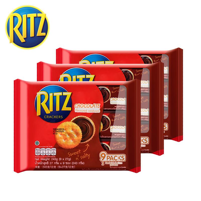 RITZ 乐之 巧克力味夹心饼 243g*3包