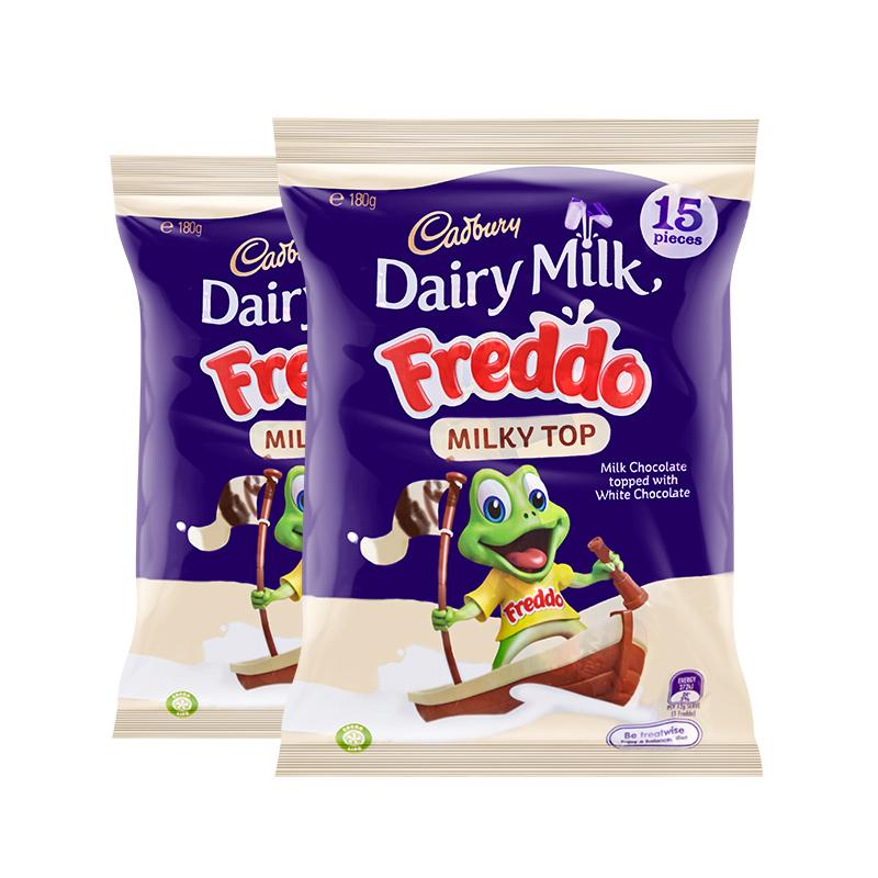 CADBURY 吉百利小青蛙牛奶涂层巧克力 180g*2包