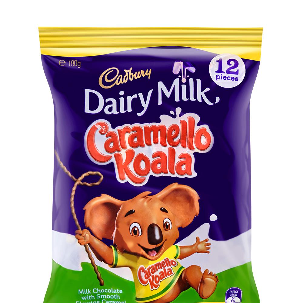 【临期清仓】CADBURY 吉百利牛奶巧克力夹焦糖流心  180g*10包